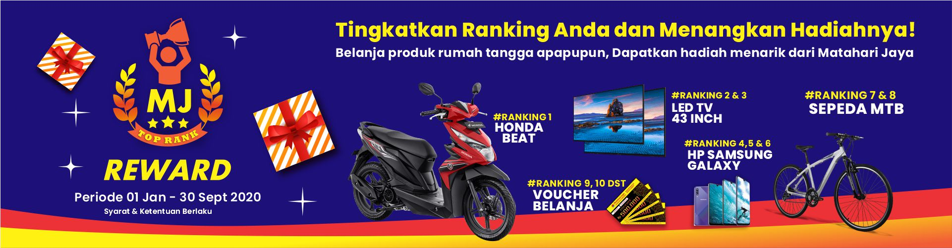 PROMO TOP RANK REWARD MATAHARI JAYA